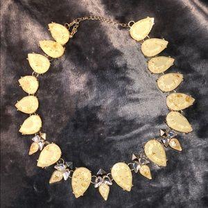 Beige & Gold Statement Necklace